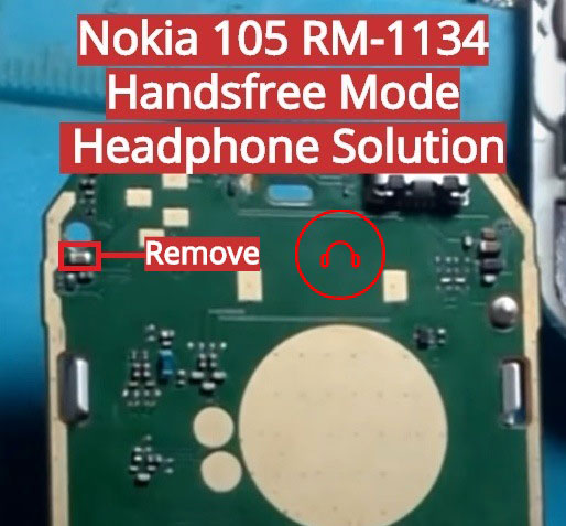 Nokia 105 (2015) RM-1134 Hands Free Jumper Solution Headphone Jack Ways