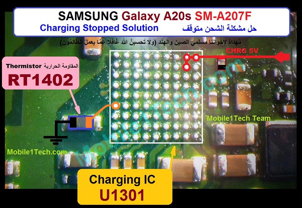 Samsung Galaxy A20s A207F Charging Paused Solution Jumpers