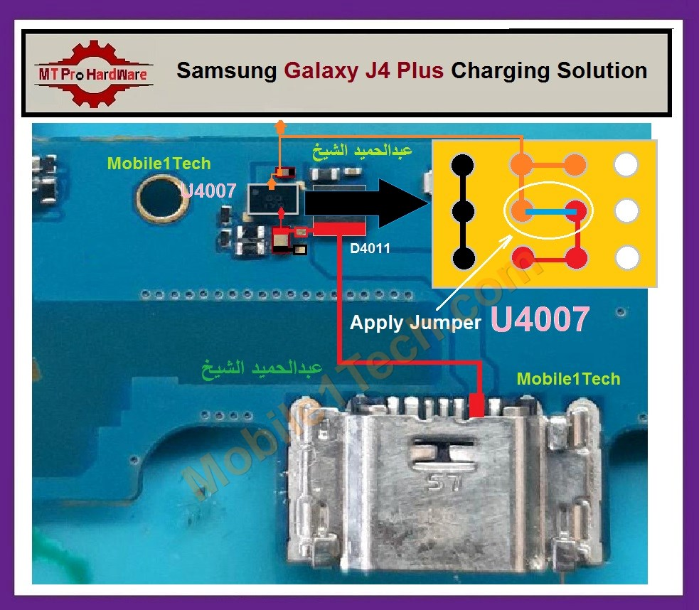 Samsung Galaxy J4 Plus J415 Usb Charging Problem Solution Jumper Ways