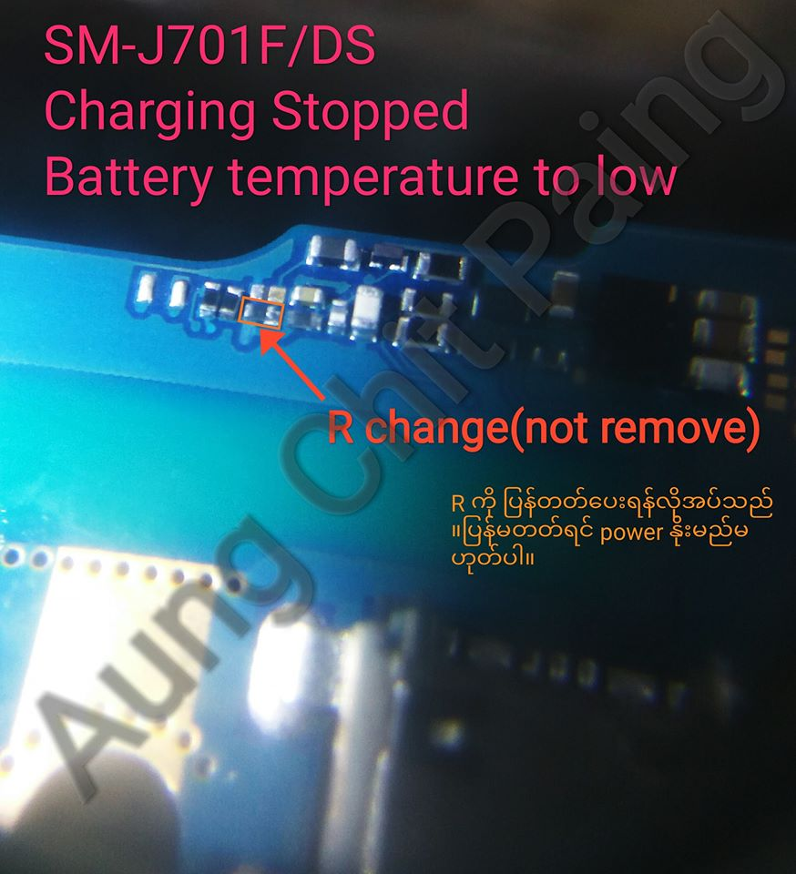 Samsung Galaxy J7 Core J701F Charging Paused Solution Jumpers