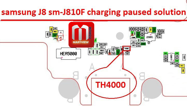 Samsung Galaxy J8 J810 Charging Paused Solution Jumpers