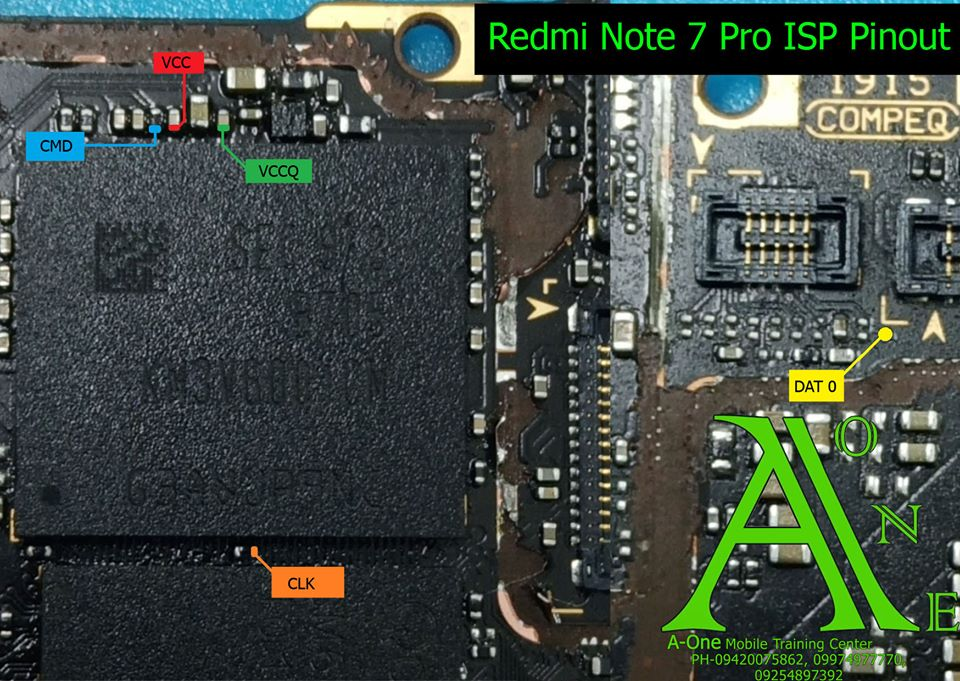 Xiaomi Redmi Note 7 Pro Test Points Pin Out Solution Flash Point