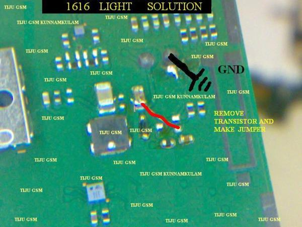 Nokia 1616 Light Problem Solution With Jumpers