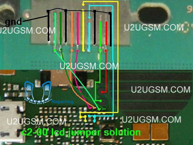 Mobile Home Value >> Nokia C2-00 LCD Display IC Solution Jumper Problem Ways