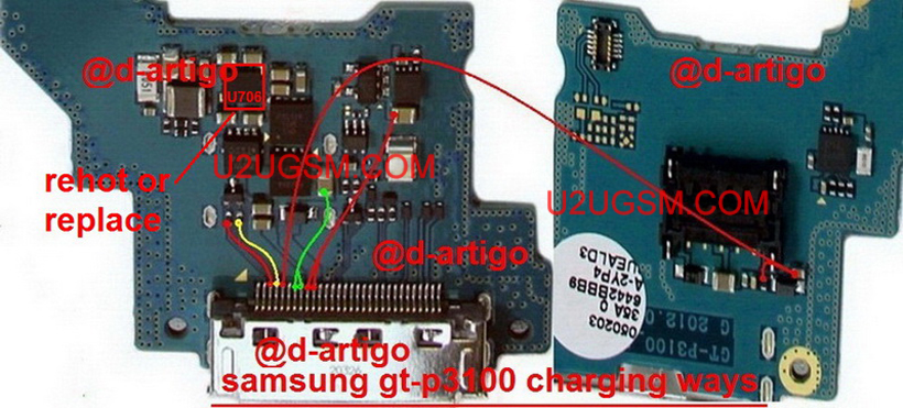 Samsung Galaxy Tab 2 7 0 P3100 Charging Solution Jumper Problem Ways Charging Not Supported