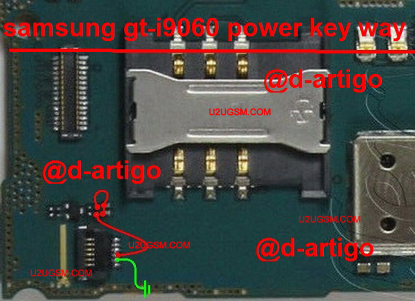 Samsung Grand Neo I9060 Power On Off Key Button Switch Jumper Ways
