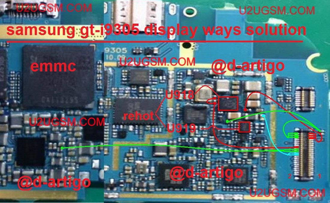 Samsung I9305 Galaxy S Iii Lcd Display Ic Solution Jumper Problem Ways