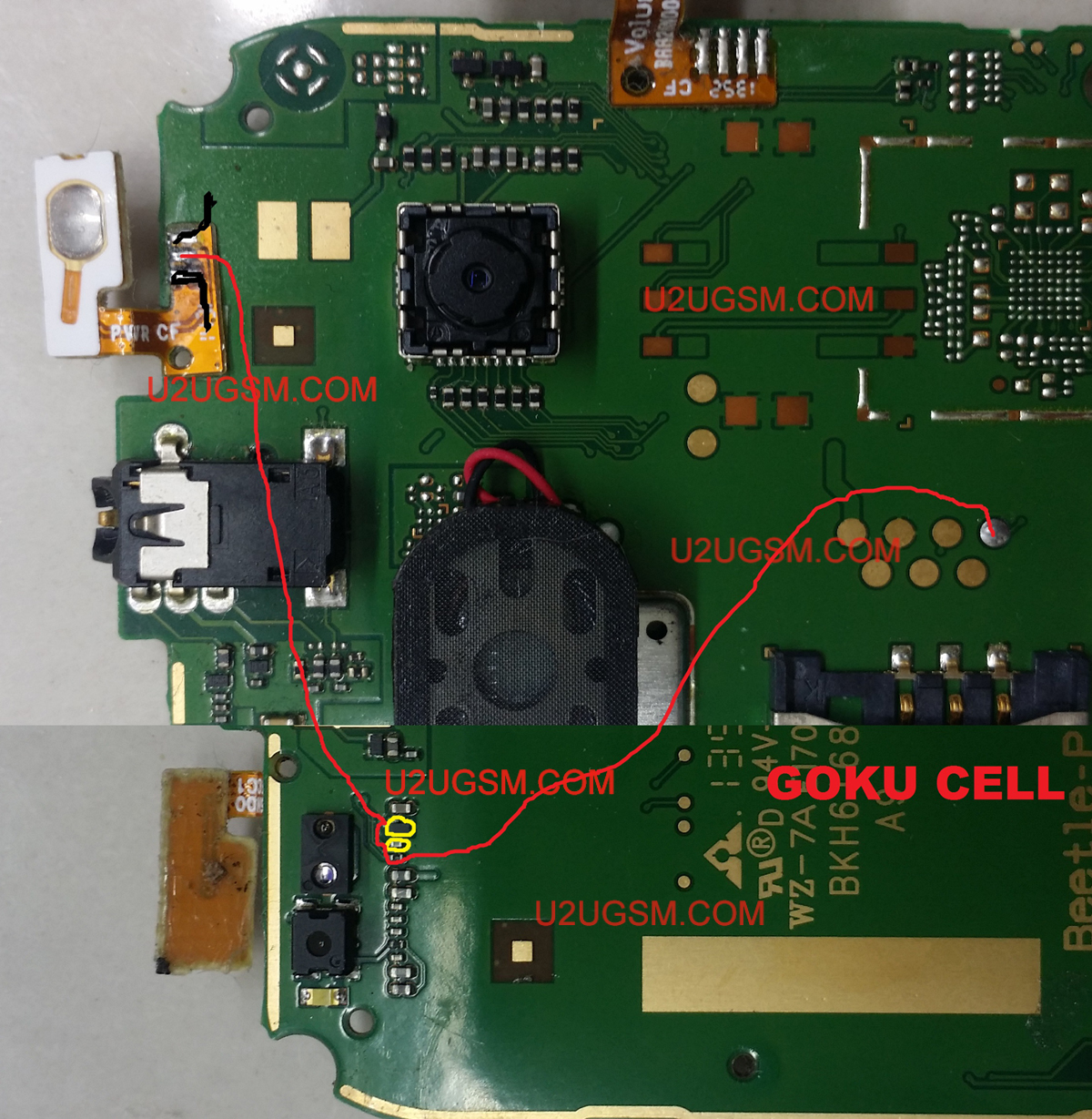Alcatel 4030 Power On Off Button Ways