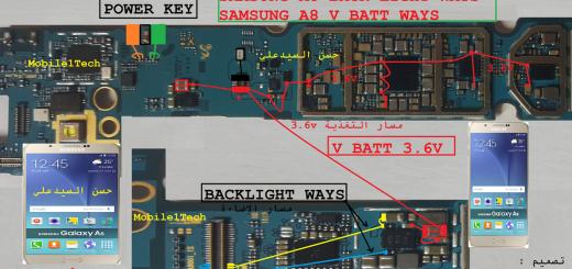 Samsung Galaxy A8 Battery Connector Terminal Jumper Ways