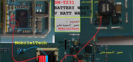 Samsung Galaxy Tab 4 SM- T231 Battery Connector Terminal Jumper Ways