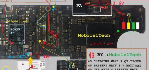 iPhone 4S Usb Charging Problem Solution Jumper Ways