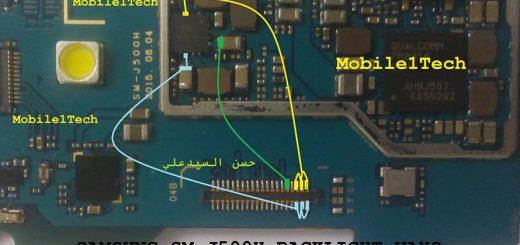 Samsung Galaxy J5 LCD Display Light IC Solution Jumper Problem Ways
