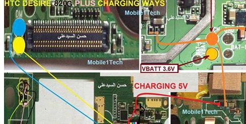 HTC 820G Plus Usb Charging Problem Solution Jumper Ways