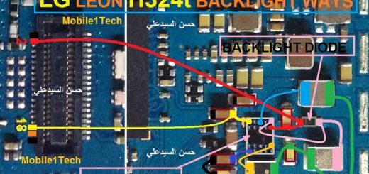 LG Leon H324T LCD Display Light IC Solution Jumper Problem Ways