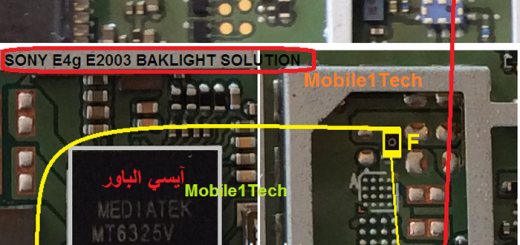 Sony Xperia E4g E2003 LCD Display Light IC Solution Jumper Problem Ways