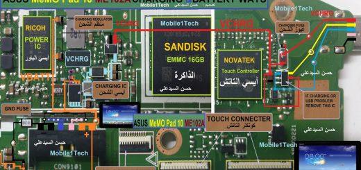 Asus Memo Pad 10 ME102A Battery Connector Terminal Jumper Ways