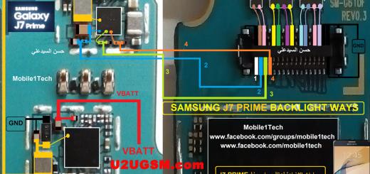 Samsung Galaxy J7 Prime Cell Phone Screen Repair Light Problem Solution Jumper Ways