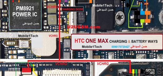 HTC One Max Battery Connector Terminal Jumper Ways