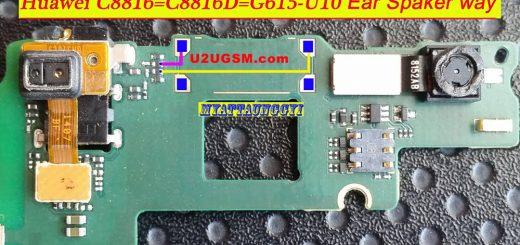 Huawei Ascend G615 Earpiece Solution Ear Speaker Problem Jumper Ways