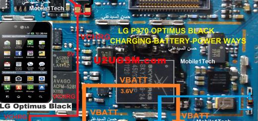 LG Optimus Black P970 Battery Connector Terminal Jumper Ways