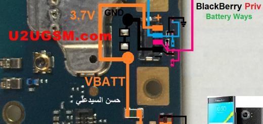 BlackBerry Priv Battery Connector Terminal Jumper Ways