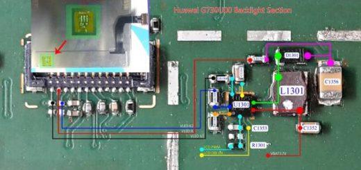 Huawei Ascend G730 Mobile Phone Back light Jumper Solution