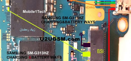 Samsung Galaxy Ace 4 LTE G313 Battery Connector Terminal Jumper Ways