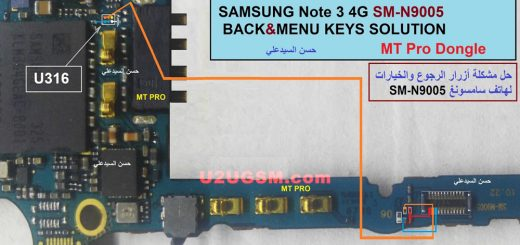 Samsung Galaxy Note 3 N9005 Home Key Button Not Working Problem Solution Jumper