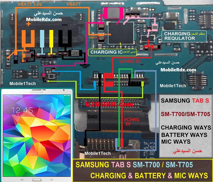 Samsung Galaxy Tab S 8 4 T700 Mic Solution Jumper Problem