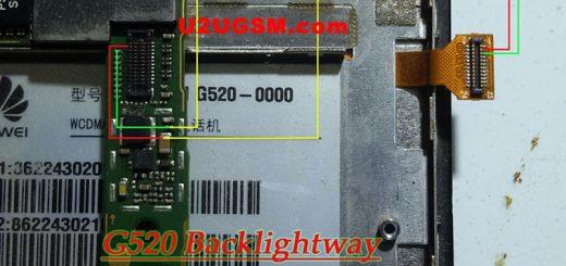 Huawei G520 Cell Phone Screen Repair Light Problem Solution Jumper Ways