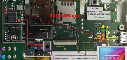Huawei MediaPad T1-A21L Usb Charging Problem Solution Jumper Ways
