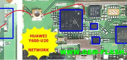 Huawei Y600-U20 network problem signal solution jumpers