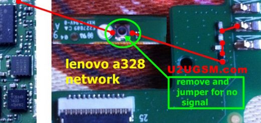 Lenovo A328 network problem signal solution jumpers