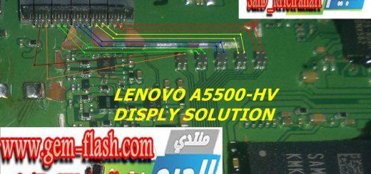 Lenovo A5500 Display Problem Solution Jumper Ways