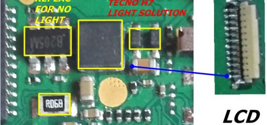 Tecno H7 Display Light Solution