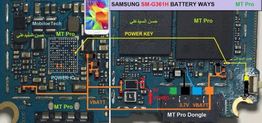 Samsung Galaxy Core Prime G361H Battery Connector Terminal Jumper Ways