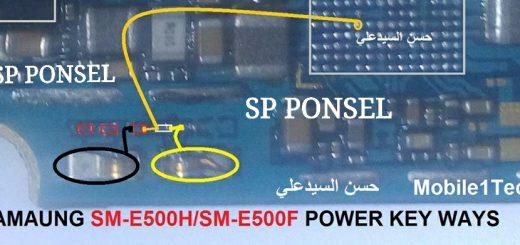 Samsung Galaxy E5 E500H Power Button Solution Jumper Ways