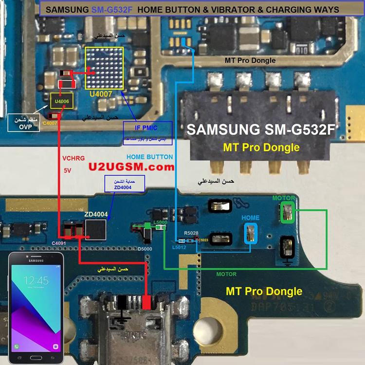 Samsung Galaxy Grand Prime Plus G532f Home Key Button Not