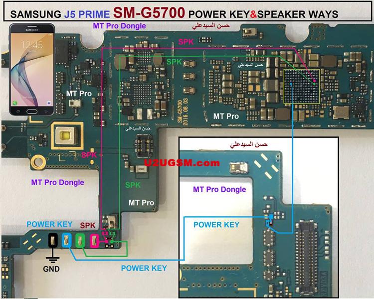 Samsung Galaxy J5 Prime G5700 Power Button Solution Jumper