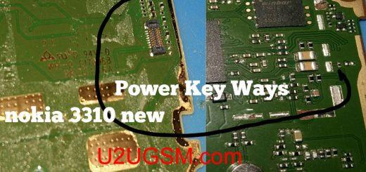 Nokia 3310 2017 Power On Off Key Button Switch Jumper Ways