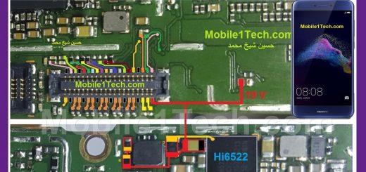 Huawei P8 Lite (2017) Cell Phone Screen Repair Light Problem Solution Jumper Ways