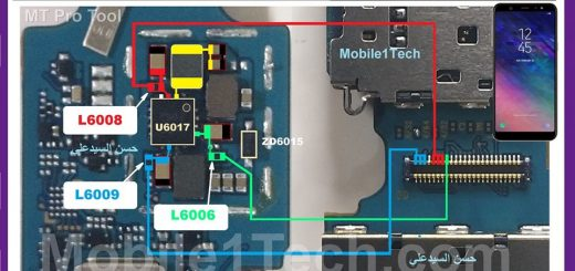 Samsung Galaxy A6 Plus A650F Cell Phone Screen Repair Light Problem Solution Jumper Ways