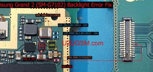 Samsung Galaxy Grand 2 Duos G7102 Display Light Solution