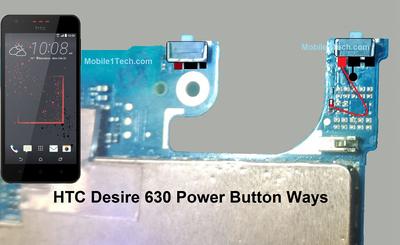 HTC Desire 630 Power Button Solution Jumper Ways
