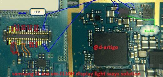 Samsung Galaxy J1 Ace J110H Cell Phone Screen Repair Light Problem Solution Jumper Ways
